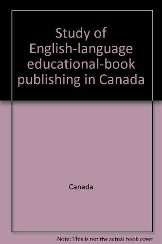 9780660016795: Study of English-language educational-book