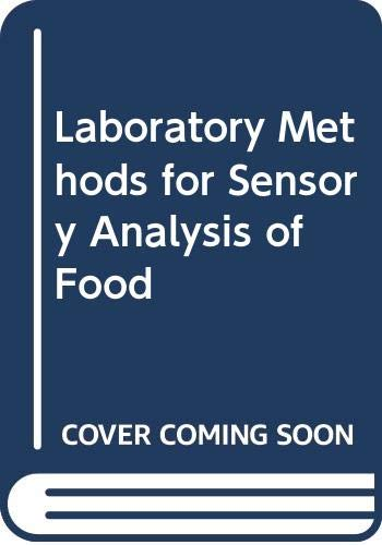 9780660138077: Laboratory Methods for Sensory Analysis of Food (Publication / Research Branch, Agriculture Canada)