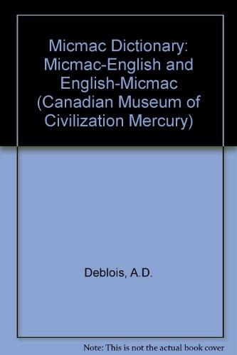 9780660159669: Micmac Dictionary (Mercury Series)