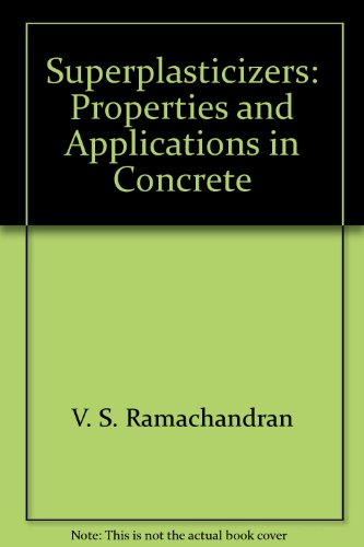 9780660173931: Superplasticizers: Properties and Applications in Concrete