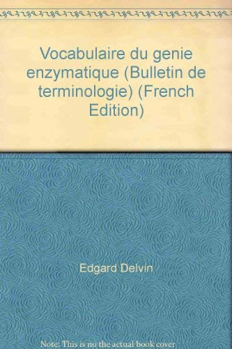 9780660588742: Vocabulaire du genie enzymatique (Bulletin de terminologie) (French Edition)