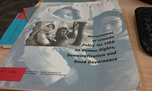 9780662243939: Government of Canada policy for CIDA on human