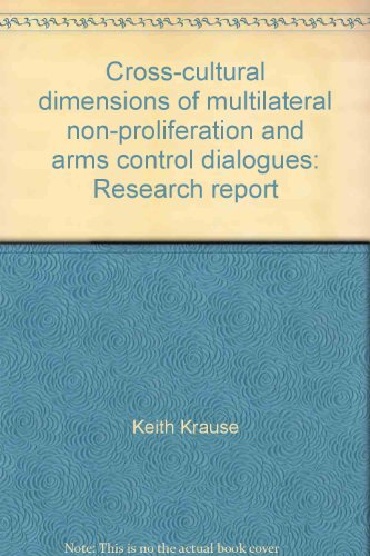 9780662263784: Cross-cultural dimensions of multilateral non-proliferation and arms control dialogues: Research report