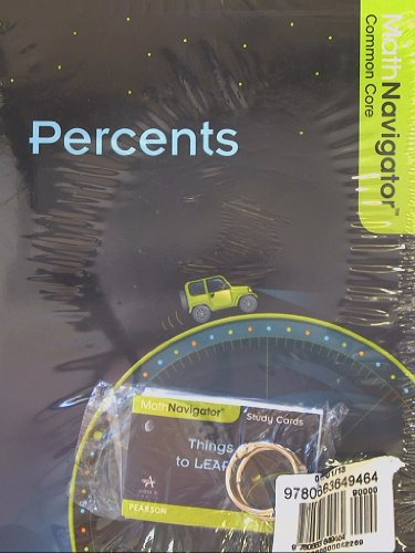 Math Navigator, Percents, Book and Study Cards, Common Core