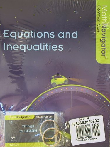 9780663650200: Math Navigator, Equations and Inequalities, Book and Study Cards, Common Core