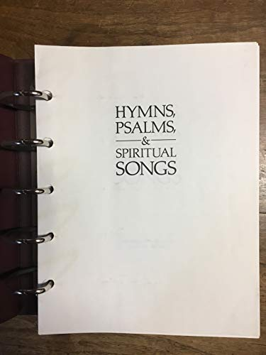 9780664101121: Hymns, Psalms, and Spiritual Songs: Accompanist's Edition