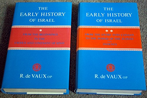 9780664207625: The Early History of Israel (English and French Edition)
