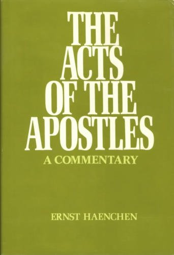 9780664209193: Acts of the Apostles: A Commentary (English and German Edition)