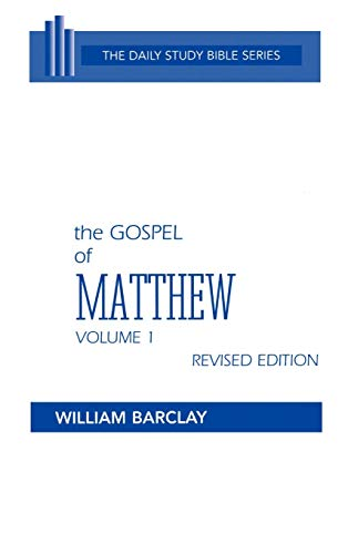 9780664213008: The Gospel of Matthew: Chapters 1 to 10 (Daily Study Bible (Westminster Hardcover))