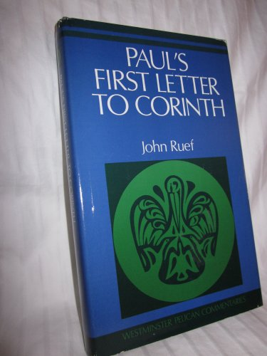 9780664213480: Title: Pauls first letter to Corinth Westminster Pelican