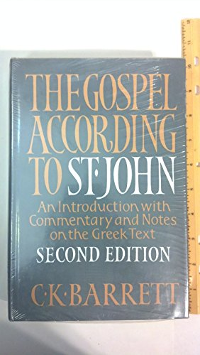 9780664213640: Gospel According to St. John: An Introduction With Commentary and Notes on the Greek Text