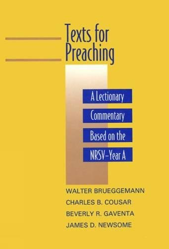 9780664219277: Texts for Preaching: A Lectionary Commentary, Based on the NRSV, Vol. 1: Year A
