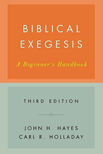 9780664227753: Bibical Exegesis: A Beginner's Handbook