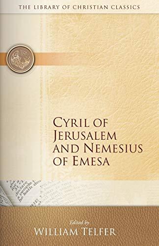 9780664230821: Cyril of Jerusalem and Nemesius of Emesa