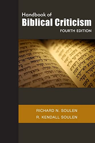 9780664235345: Handbook of Biblical Criticism, Fourth Edition