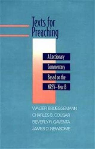 9780664239176: Texts for Preaching - Year B