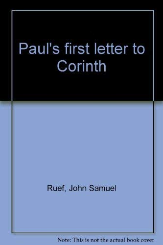 9780664241834: Paul's first letter to Corinth
