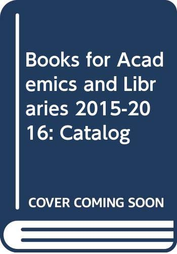 Books for Academics and Libraries 2015-2016: Catalog: Westminster John Knox