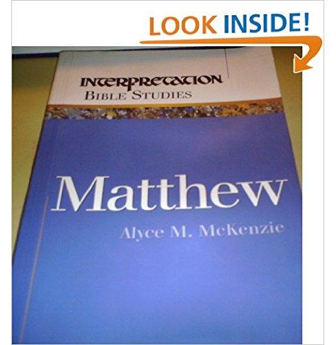9780664500221: Matthew (Interpretation Bible Studies)