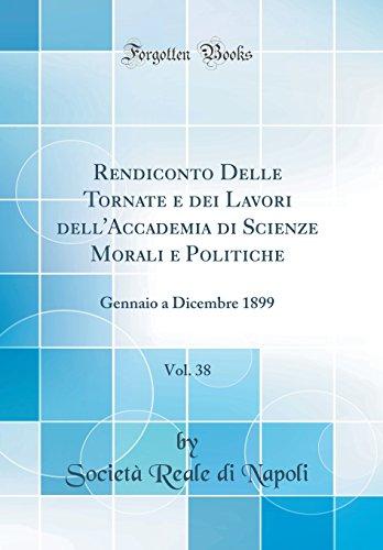 Rendiconto Delle Tornate e dei Lavori dell'Accademia: Napoli, Società Reale