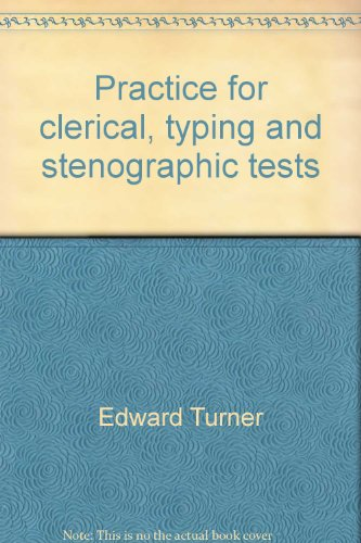 9780668000055: Practice for clerical, typing and stenographic tests;: The complete study guide for scoring high (Arco civil service test tutor)