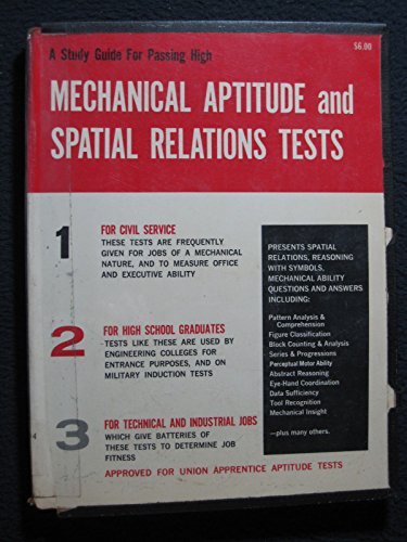 9780668005395: Mechanical aptitude and spatial relations tests: The complete study guide for scoring high