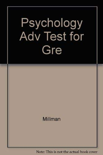 Psychology Adv Test for Gre: Millman
