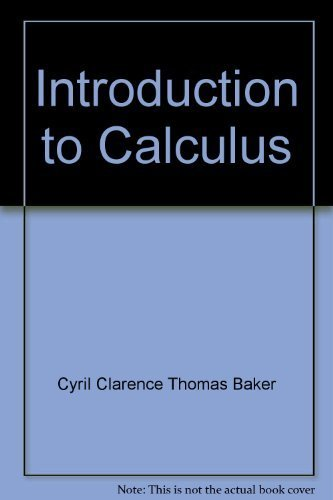 9780668012737: Introduction to Calculus
