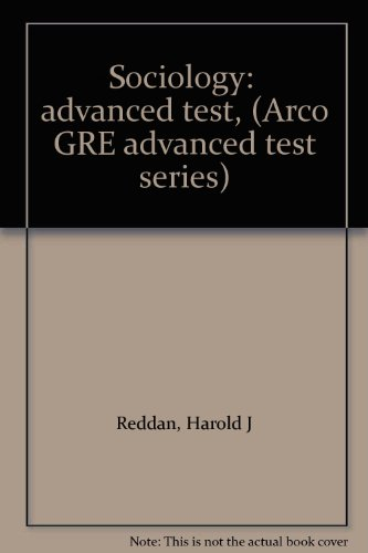 9780668014441: Sociology: advanced test, (Arco GRE advanced test series)