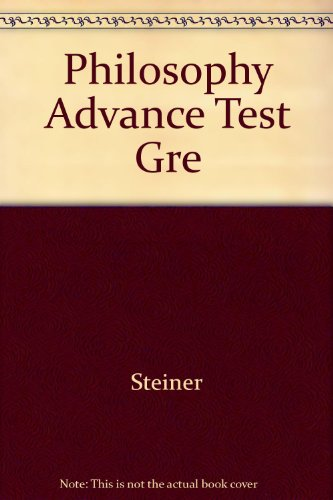 9780668014724: Philosophy: Advanced Test for the G.R.E. (Arco GRE advanced test series)