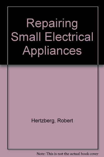 Repairing Small Electrical Appliances Repairing Small Electrical Appliances, Robert Edward, Hertzberg, Used, 9780668018104 Ships with Tracking Number! INTERNATIONAL WORLDWIDE Shipping available. May not contain Access Codes or Supplements. Buy with confidence, excellent customer service!