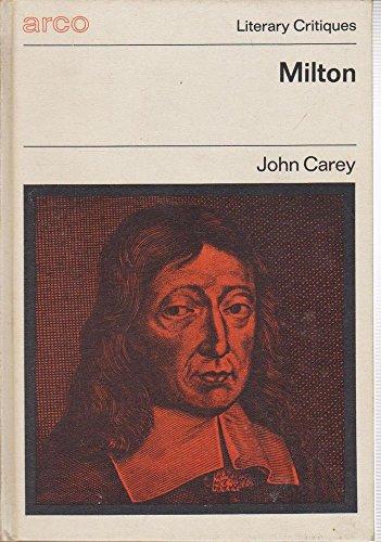 9780668021784: Milton (Arco literary critiques)