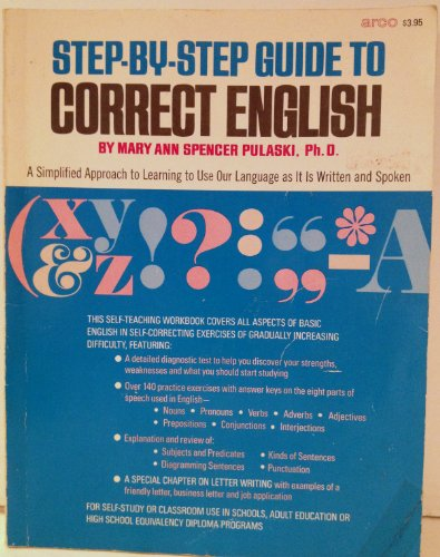 9780668034029: Step-by-step guide to correct English