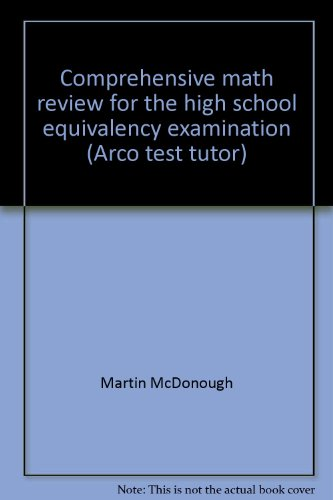 9780668034203: Comprehensive math review for the high school equivalency examination (Arco test tutor)