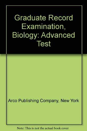 9780668043106: Graduate Record Examination, Biology: Advanced Test
