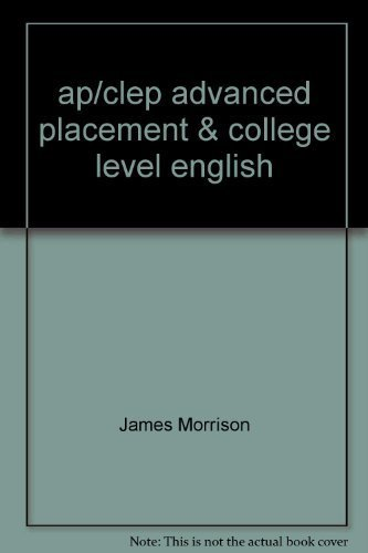 9780668044066: Ap/Clep Advanced Placement and College Level Examinations in English-Analysis and Interpretation of Literature