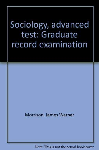 9780668045476: Sociology, advanced test: Graduate record examination