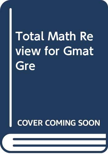 9780668049818: Total Math Review for Gmat Gre