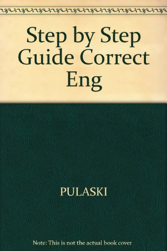 9780668052771: Step by Step Guide Correct Eng