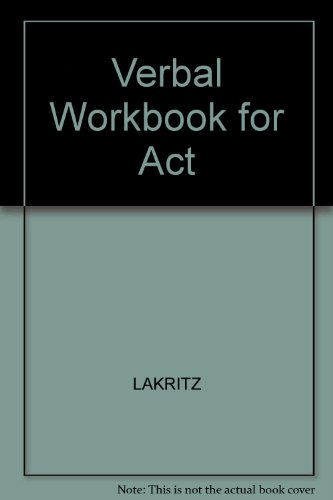 9780668053488: Verbal Workbook for Act