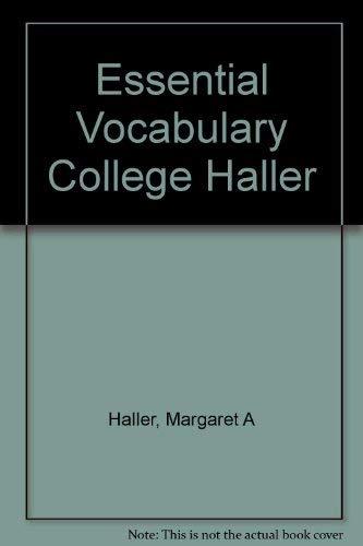 9780668054171: Essential Vocabulary College Haller