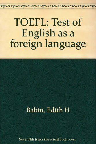 9780668054461: TOEFL, Test of English as a foreign language