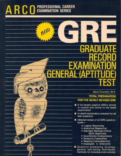 9780668054799: G.R.E.: Graduate Record Examination General (Aptitude) Test
