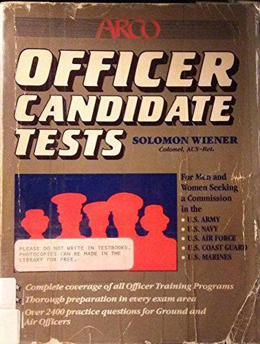 9780668056656: Officer candidate tests