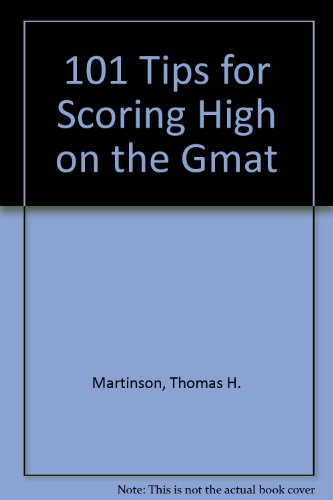 9780668057271: 101 Tips for Scoring High on the Gmat