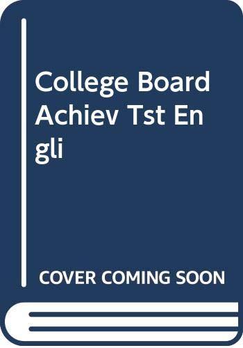 9780668057288: College Board Achiev Tst Engli