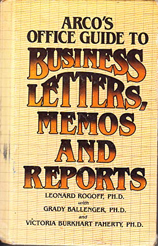 9780668057936: Office Guide to Business Letters, Memos, and Reports