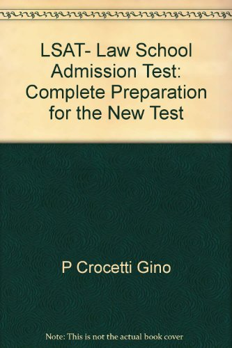 9780668061339: LSAT- Law School Admission Test: Complete Preparation for the New Test