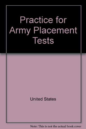 9780668064873: Practice for Army placement tests (ARCO military test tutor)