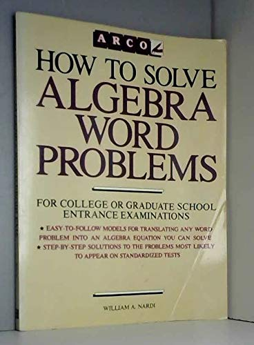 9780668065740: How to solve algebra word problems